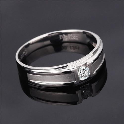 男士白金戒指图片 男士白金戒指款式图片