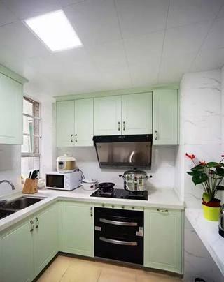 绿色系厨房装修图片