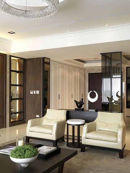 120平中式风格三居室装修大客厅装潢图