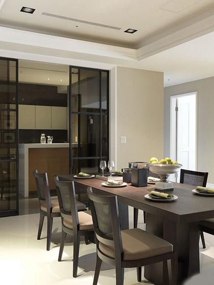 120平中式风格三居室装修实木餐桌图片
