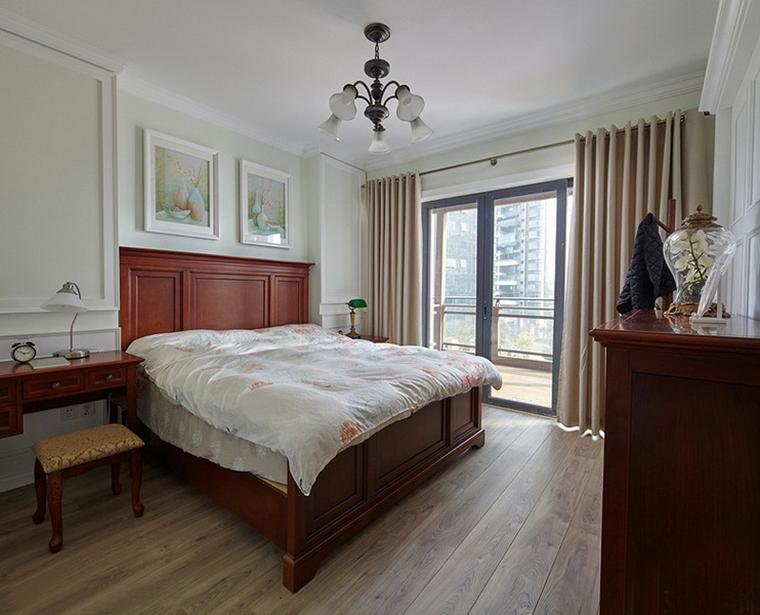 三室两厅美式风格装修卧室效果图