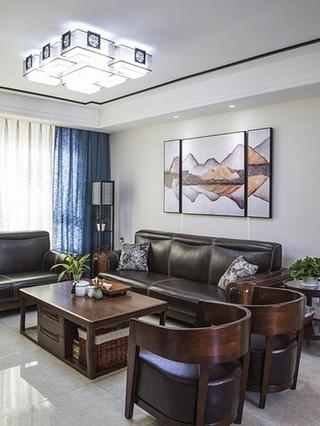 15万半包中式风格三居室中式客厅图片