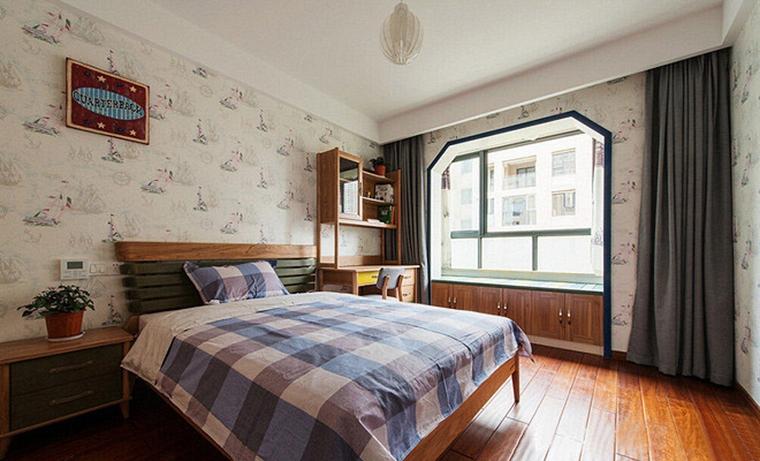 120平中式风格装修卧室效果图