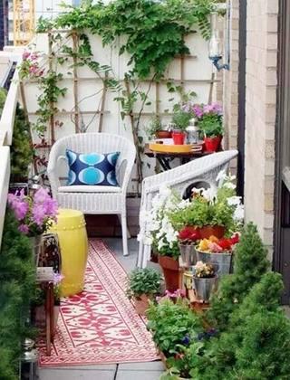 休闲阳台设计实景图片