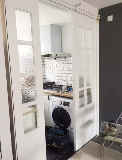 厨房洗衣机装修布置图