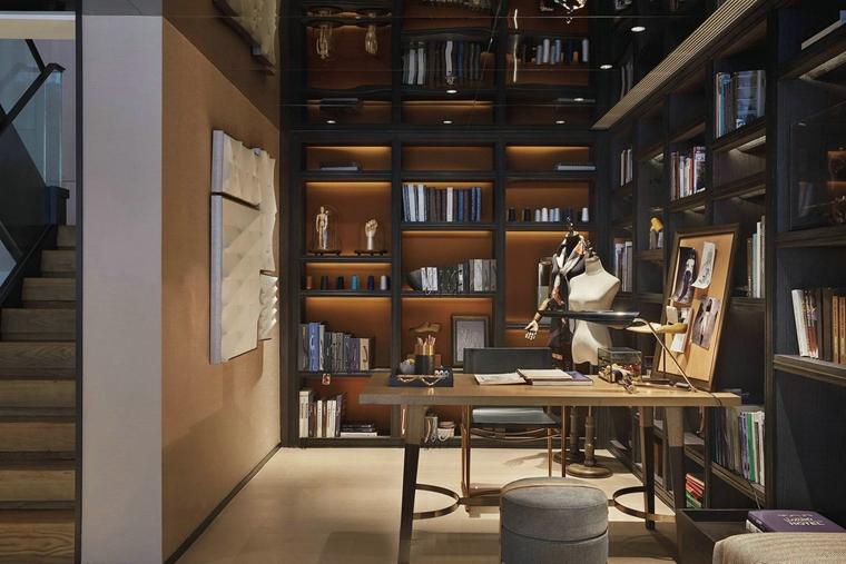 简约风格别墅设计书房效果图