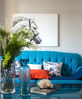 简美风格三室两厅装修客厅墙面装饰