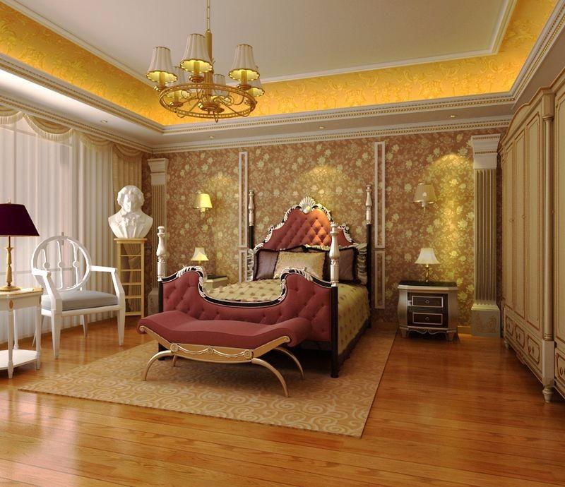 简欧风格卧室效果图图片