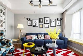117㎡混搭风格二居室背景墙图片