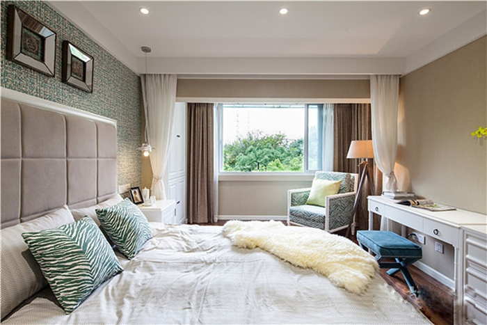 100平米旧房改造装修卧室效果图