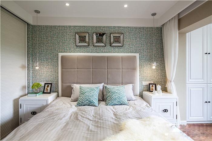 100平米旧房改造装修卧室背景墙图片