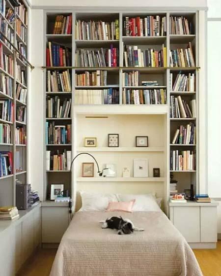 卧室书架背景墙图