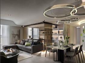 现代简约风格三居室装修 高品质空间设计