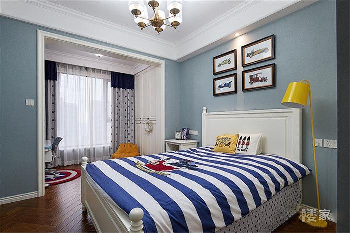 130平美式风格装修儿童房效果图