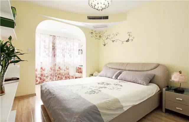 清新田园卧室构造图