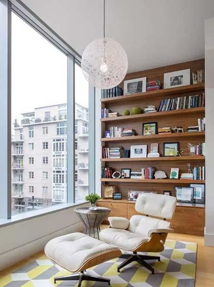 客厅书架墙设计装饰图