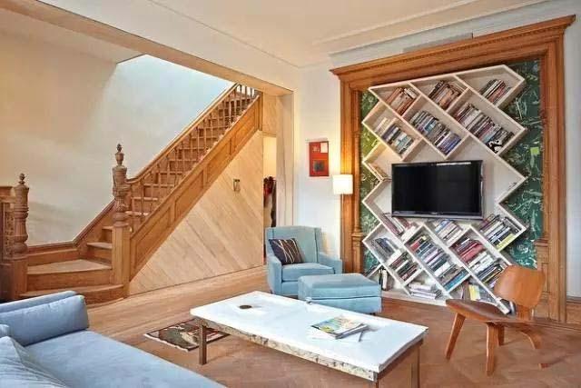 客厅书架墙装修效果图