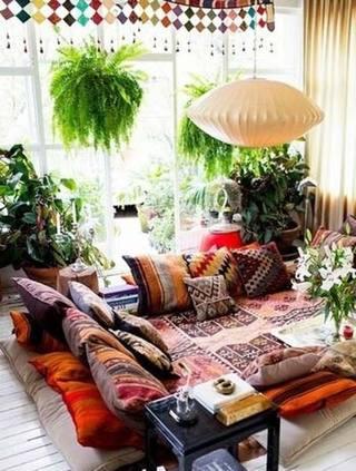 客厅植物摆放平面图