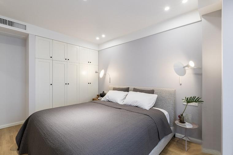 130平现代北欧风格装修卧室效果图