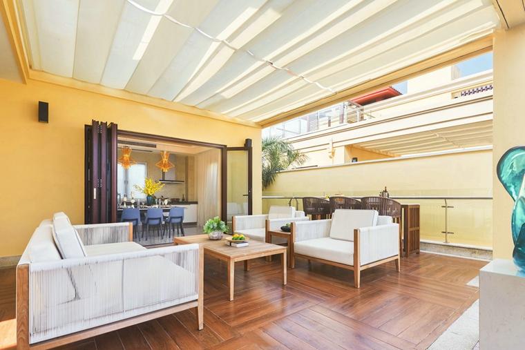 300平别墅样板间装修会客厅装潢图