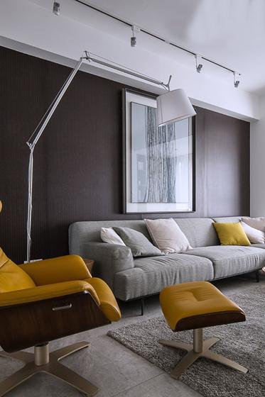 现代简约风格三居室布艺沙发图片