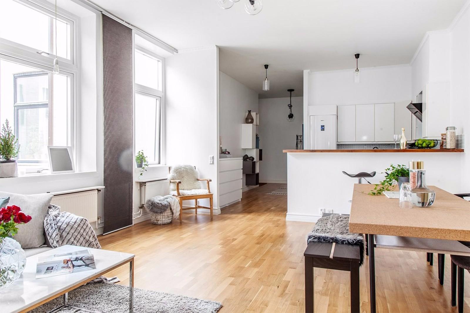 装修效果图,68平米北欧舒适公寓装修案例效果图-齐家图片