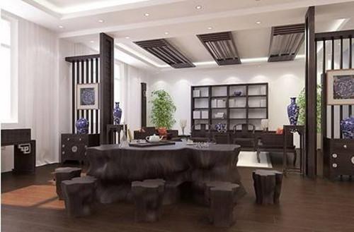 中式茶室装修效果图 创造一个舒适的饮茶环境_按风格图片