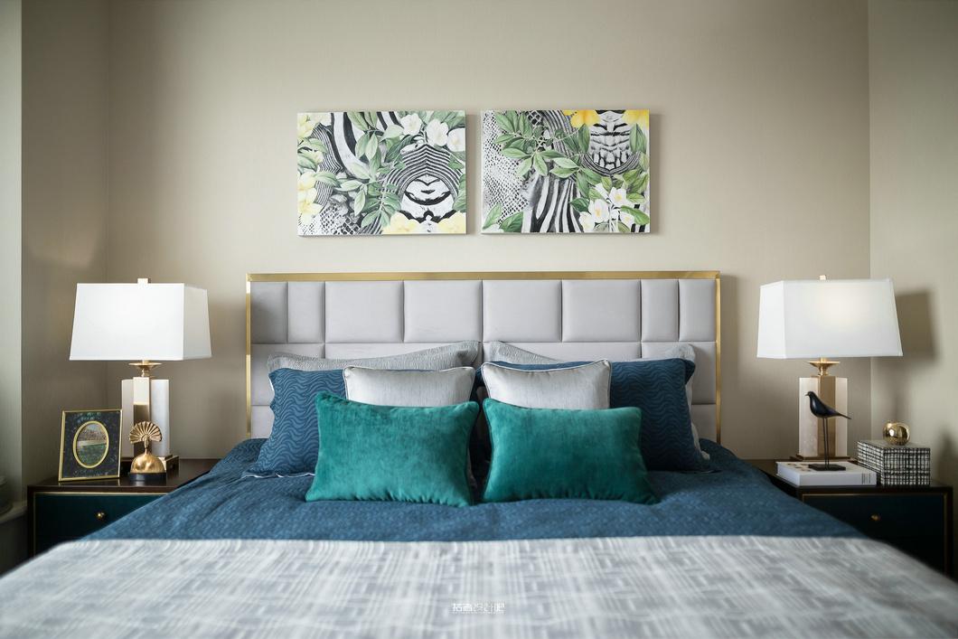 法式风格别墅装修样板间次卧图片