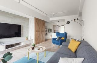 100平北欧风格装修效果图布艺沙发图片