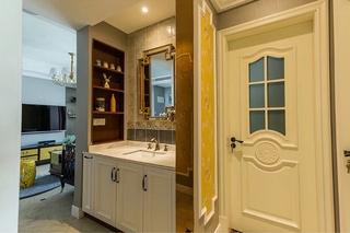 90平混搭风格两居室装修效果图干湿分离区