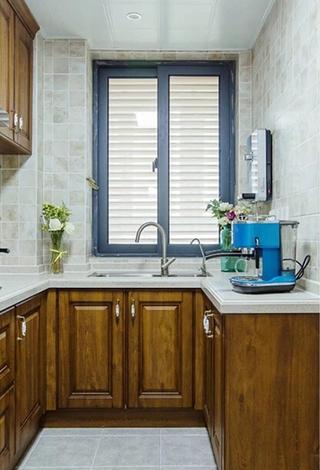 90平混搭风格两居室装修效果图厨房效果图