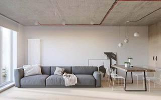 52㎡工业风一居室客厅图