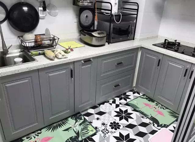 厨房地砖设计布置图片
