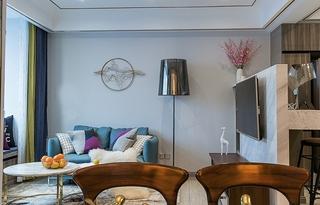 单身公寓现代简约风格装修小客厅效果图