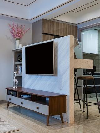 单身公寓现代简约风格装修电视柜图片