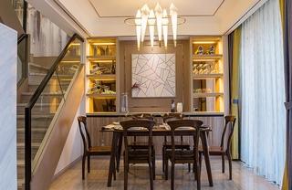单身公寓现代简约风格装修餐厅效果图
