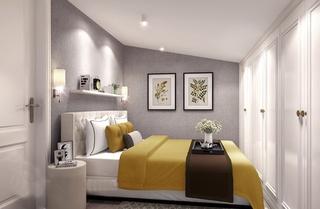 简欧风格小复式装修卧室效果图