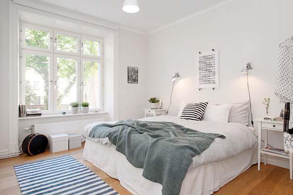 北欧风卧室装修摆放图