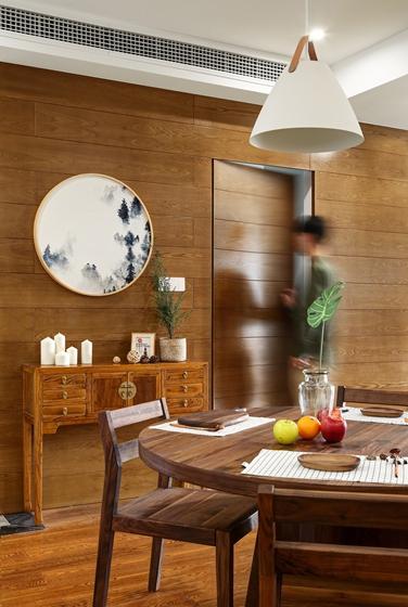 130平北欧风格装修餐厅吊灯图片
