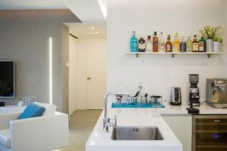极简风格大户型装修开放式厨房图片