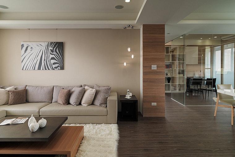 两室两厅简约风格装修过道图片