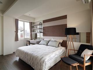 两室两厅简约风格装修卧室效果图