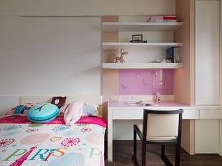 两室两厅简约风格装修儿童房效果图
