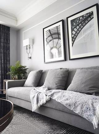 美式两室两厅整体效果图