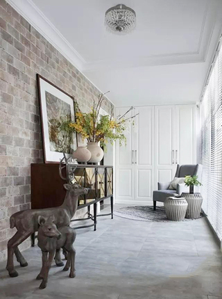 美式两室两厅阳台构造图