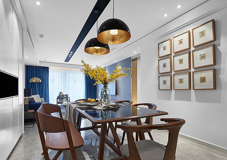 现代简约三居室餐厅吊灯图片
