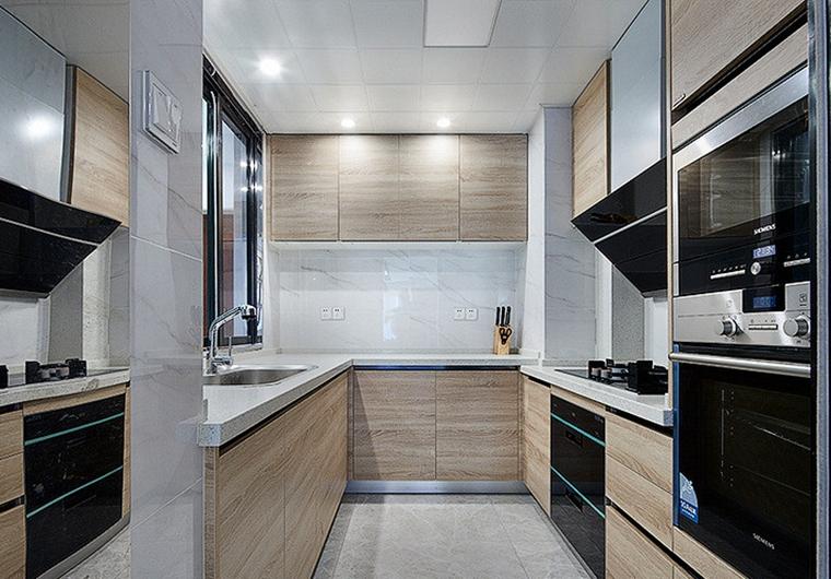 现代简约三居室厨房效果图