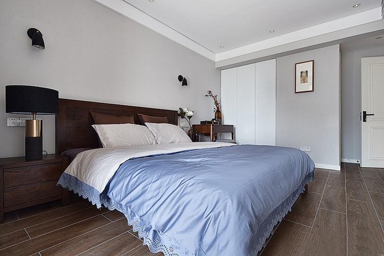 现代简约三居室卧室效果图