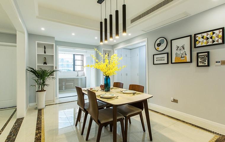 现代简约风格公寓装修餐厅吊灯