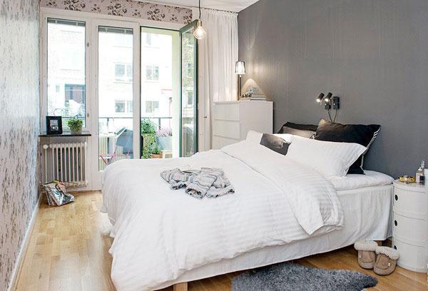 北欧风格卧室装修摆放图